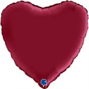 Balão Coração Cetim 46cm Ruby