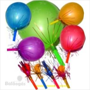 10 Balões Corneta com fitas