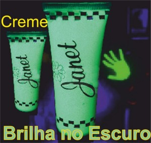 Creme Bodypaint Brilha no Escuro 20ml.
