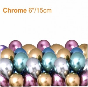 """100 Balões Redondo 6""""/15cm Cromado"""