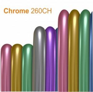25 Balões Modelar 260CH Cromado