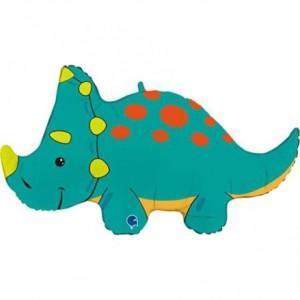 Balão Foil Triceratops 91cm Grabo