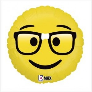 Balão Emoji Nerd 46cm Grabo