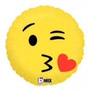 Balão Emoji Beijo 46cm