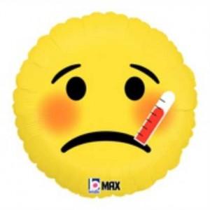 Balão Emoji Doente 46cm Grabo