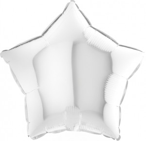 Estrela Foil 40cm Branca