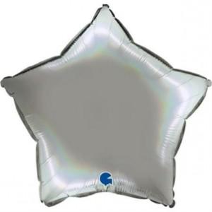Balão Estrela Platina 46cm Pure