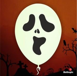10 Balões Halloween Fantasma
