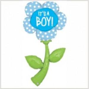 Balão foil Flor Gigante It`s a Boy 150cm