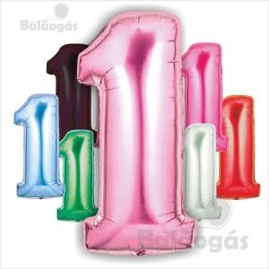 Balões Número 1 Foil Gigante