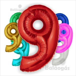 Balões Número 9 Foil Gigante