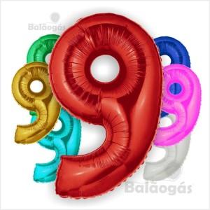 Balão Número 9 Foil 66cm