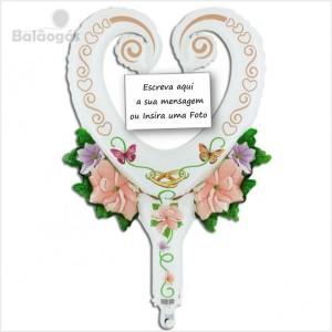 Balão Foil Coração Abanar e Mensagens 65cm R.77010