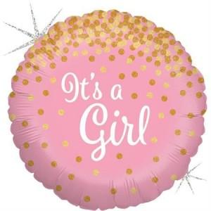 Balão Confetti It´s a Girl 46cm