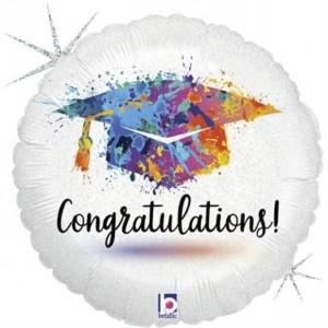 Balão Redondo Parabéns Graduado 46cm