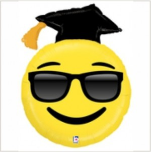 Balão foil Emoji Graduado 94Cm Grabo