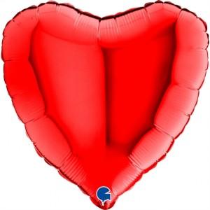 Coração Foil 45cm Vermelho Grabo