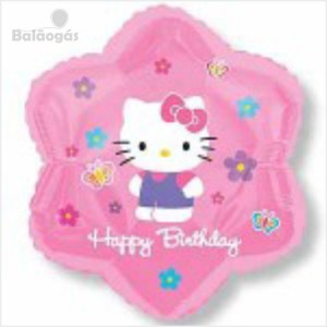 Balão Foil Hello kitty Flor 45cm