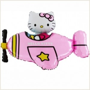 Balão Avião Hello Kitty 75cm