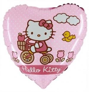 Balão Coração Hello kitty Bike 45cm Grabo