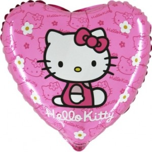 Balão Coração Hello kitty Daisy 45cm