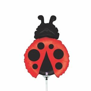 Balão Foil Mini Joaninha 35Cm