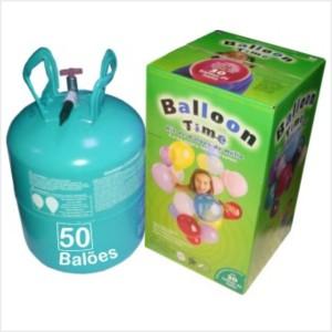 Kit Gás Hélio com 50 Balões incluidos