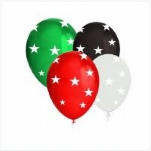 50 Balões com Estrelas 13cm (Escolha acor pretendida)