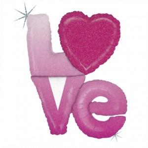 Balão foil Letras Love 99cm