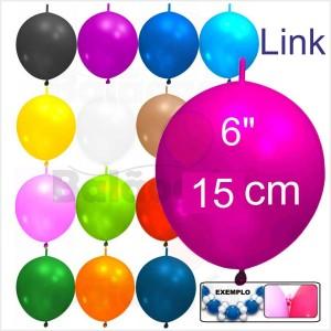 "Link 50 Balões 6"" 15cm ""Grinalda"""