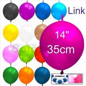"Link 50 Balões 14"" 35cm ""Grinalda"""
