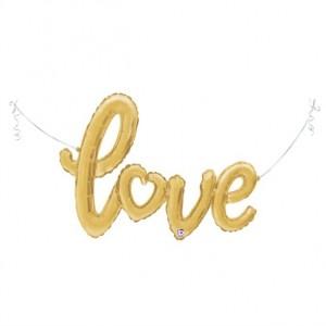 """Balão LOVE Ouro 47""""/119cm Grabo"""