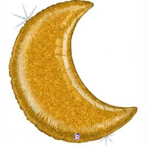 Lua Gigante Ouro Glitter 107cm