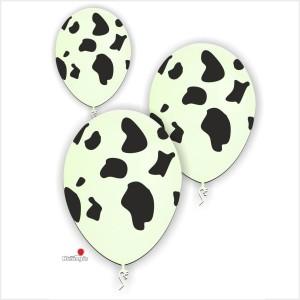 10 Balões com Manchas de Vaca