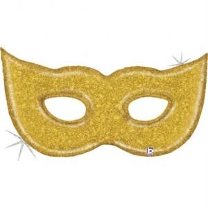 Balão Mascara Ouro Glitter 130cm