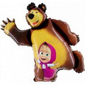 Balão Foil Masha e o Urso 90cm R:306641