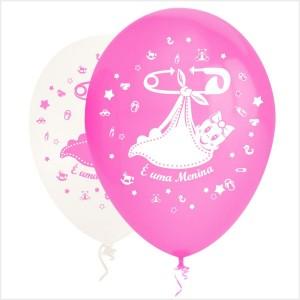 10 Balões É uma Menina ( Desenho 2 faces)