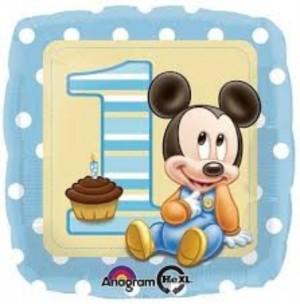 Balão Mickey 1 Ano 43cm