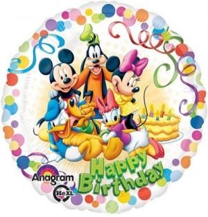 Balão Confétis Mickey e Amigos 43cm