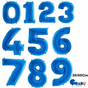 "Balões Numeros Azul 26""/66cm Grabo"