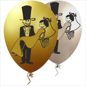 10 Balões Noivos Impressos nas 2 faces