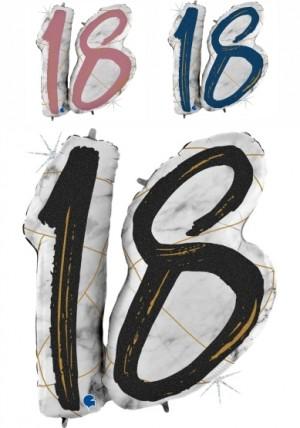 Balão Numero 18 Marmore Grabo de 97cm