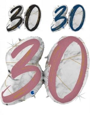 Balão Numero 30 Marmore Grabo de 109cm