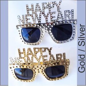 Oculos Happy New Year- Ouro Prata