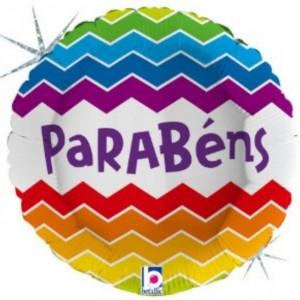 Balão Parabéns Holografico 46cm