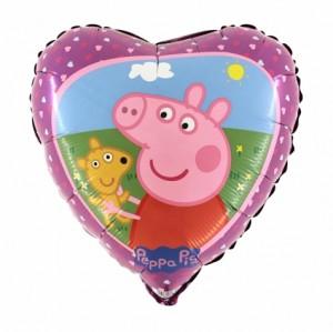 """Balão Coração18"""" Peppa Pig Grabo"""