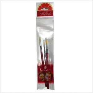 3 Pinceis Pintura Facial Rubyred