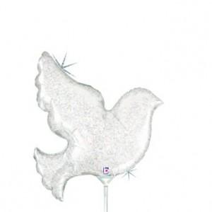 Balão Pomba Branca Pequena 35cm