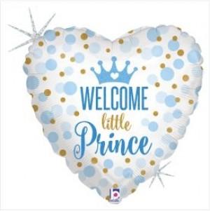 Balão Glitter Bem vindo Príncipe