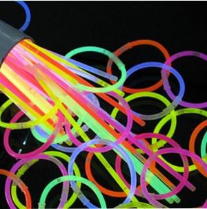 Glow Pulseiras Luminosas 50 unidades
